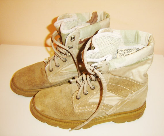 Luxury Vintage Black Leather Combat Boots Men Size 11 Wide By ZenasAttic