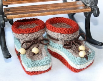 Knitted Baby booties, Baby shower Gift