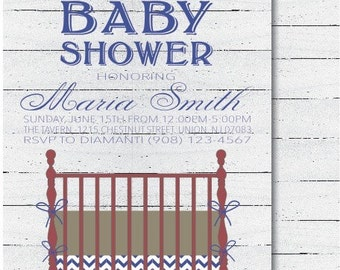 Chic Baby Boy Shower Invitation