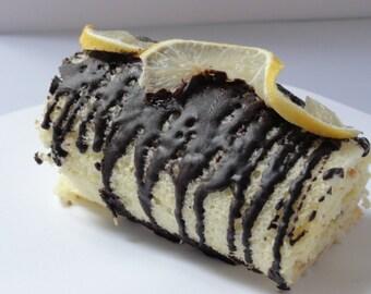 1 lb lemon roll with lemon buttercream, lemon cream roll, lemon cake with buttercream, lemon  cake, holiday  pastries