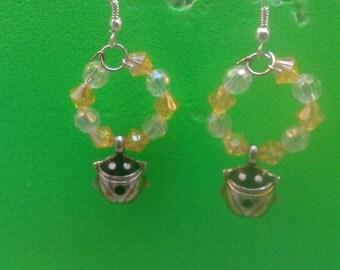 Handmade Lady Bug Earrings