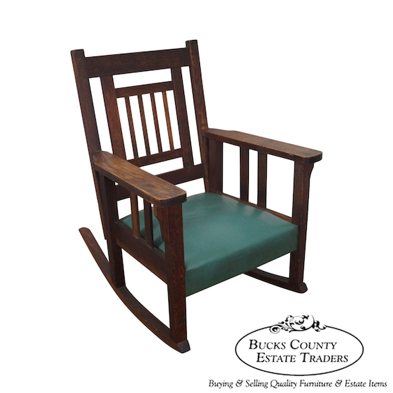 Antique Rocking Chair Styles ~ Antique mission oak stickley style rocker rocking chair