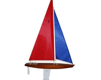 T18 Racing Sloop Finished - 18 inch Wooden Toy Sailboat that Really Sails!