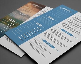 clean resume template photoshop psd instant download photographer designer cv easy