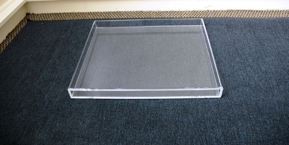Clear Acrylic Lucite Large Serving Storage Or Display