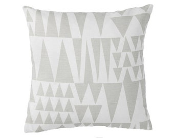 Grey Cushion- Geometric Cushion- Scandinavian Cushion- Grey Cushion- Jazz Natural- Modern Cushion- Cushion Cover- Retro Pillow