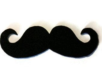 Moustache Iron On Patch - No Sew - Felt