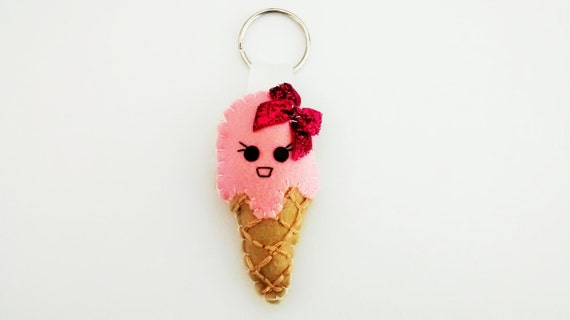Kawaii Ice Cream Keyring