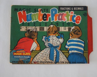 Vintage 1970's - Magic Slate Number Practice by Straphmore