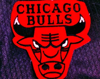 Vintage NBA Chicago Bulls Embroidered Sew-on Patch 3 1/2'' X 3 1/2''