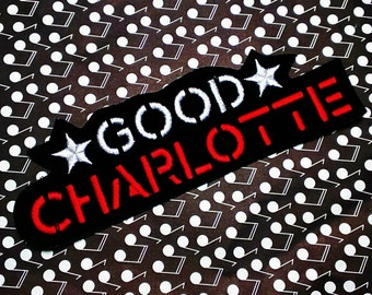 Good Charlotte Embroidered Iron -On Patch 6'' X 2''