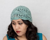 Lace Cloche Hat KNITTING PATTERN Flapper Art Deco - Celeste