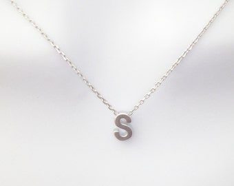 Personalized, Letter, Initial, Capital, Letter, Silver, Necklace, Customized, Letter, Alphabet, Birthday, Gift, Accessories, Jewelry