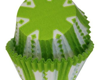 CARNIVAL Lime Green Cupcake Papers