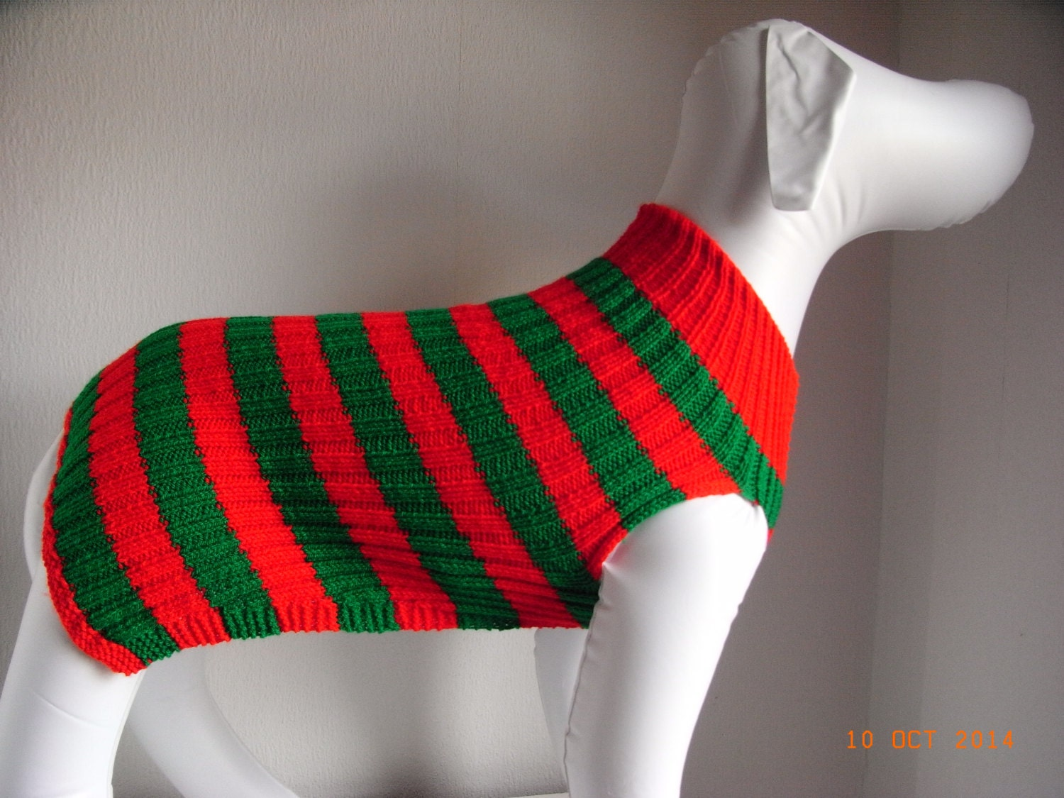 Knitting Pattern For Whippet Coat : Hand knit whippet dog sweater / coat 24 by handmadedogsweaters
