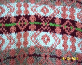 Hand knitted fair isle jumpers made to order