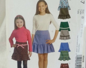 Stitch and Save 5447 by McCalls Girls Skirt Size 7-14