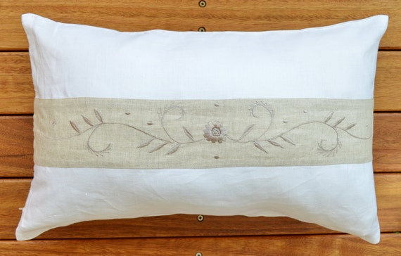 Decorative Bolster Pillow Covers : Pure Linen Bolster Pillow Cushion Cover Throw Decorative
