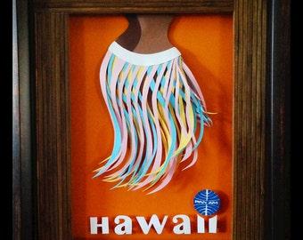 PanAm Hawaii Ad Replica Papercraft