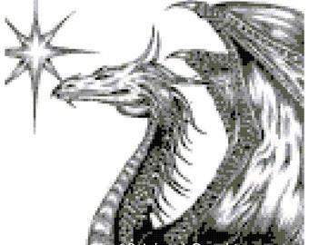 Silver Dragon Cross Stitch PDF Chart