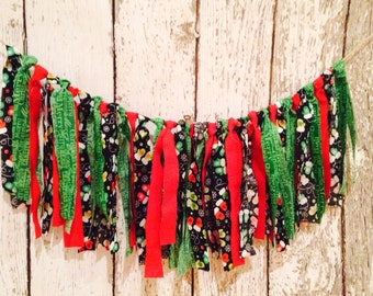 Christmas fabric garland