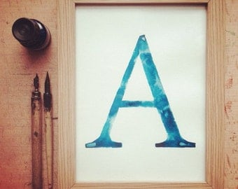typography ink print