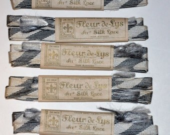 1920s-'40s Never Used Vintage Shoe Laces Old Store Stock -- Free Shipping