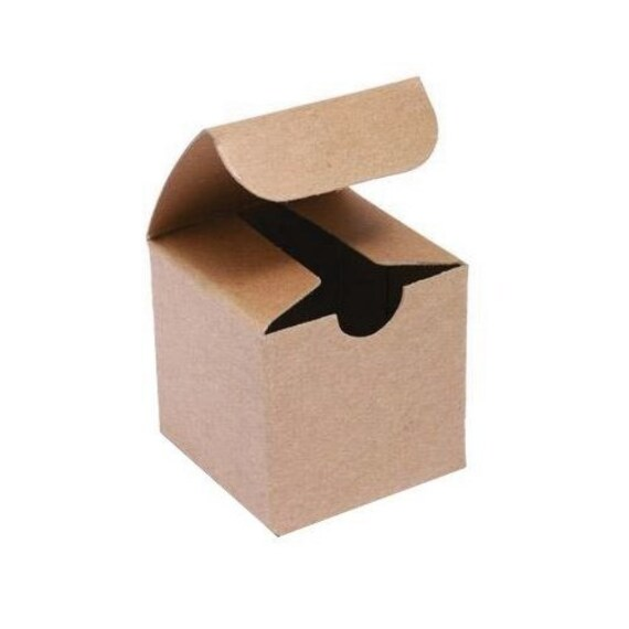 Gold Favor Boxes 4x4x4 : Eco friendly natural kraft gift box x by
