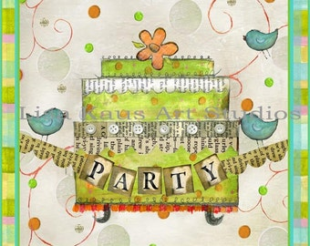 """Fab Chunky """"Party Cake"""" Print"""