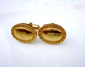 Vintage Gold Speidel Braid Cuff Links