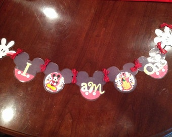 Mickey themed High Chair Banner