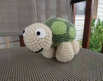 Cute crochet turtle plushie