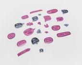 Snail mail sticker set - 50 pcs