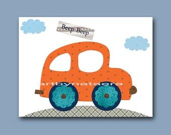 Playroom Art Digital Download Car Nursery Art Digital Art Baby Boy Nursery Art Printable Art Instant Download Kids Room Decor 8x10 11X14