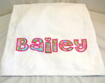 Lilly Pulitzer Appliqued Beach Towel