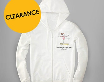 When I Grow Up I want to be a Gymnast Zip-Up Hoodie