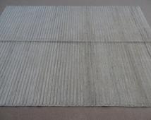 Size:8.5 ft by 6 ft Handmade Rug Afghan Gabbeh Vegetable Dye Carpet/Kilim Over Dyed Cream Rug/Kilim