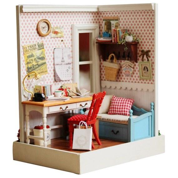 diy warme zimmer miniatur handcraft kit geburtstag geschenke. Black Bedroom Furniture Sets. Home Design Ideas