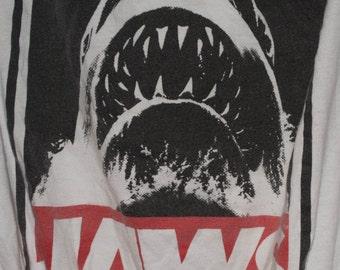 JAWS! Tote Bag, Reusable, Up Cycled, Book Bag, Shoulder Bag