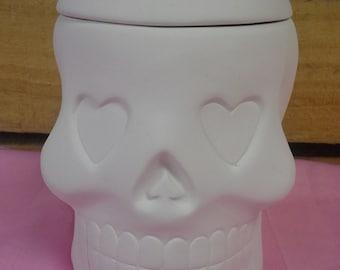 DIY, Ready to Paint, Ceramic, Ceramic-Sugar Skull Box, Day ...