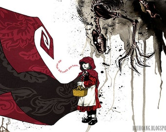 Little Red Riding Hood 11x17 print
