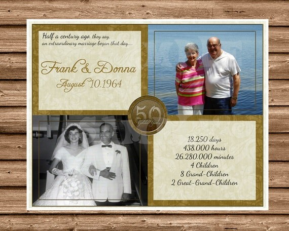 50th Golden Wedding Anniversary Gifts: 50th Wedding Anniversary