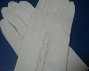 Vintage Ladies Cloth Gloves
