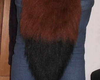 Fluffy Faux Fur Fox Tail in various colours -MADE TO ORDER-