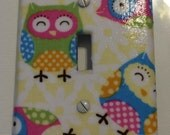Polka Dot Owls  wall plate