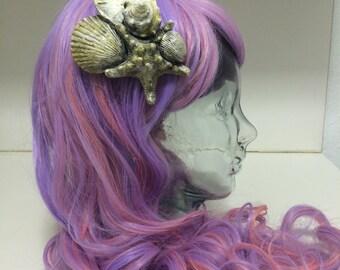 Sea shell hair clip