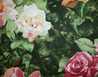 Roses & Magnolias Cotton Fabric