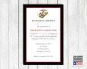 Marine Corps Retirement Ceremony Invitation, Military Retirement Invitation, Military Ceremony Invitation, Military Printable Invitation