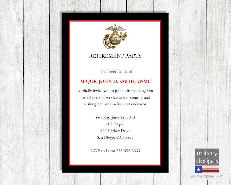 Usmc Retirement Invitations were Fresh Template To Create Great Invitation Card