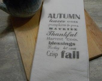 Flour Sack Tea Towels- Autumn